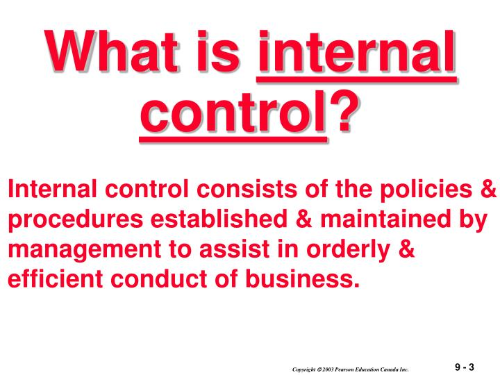 What is internal control1