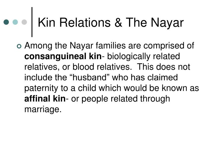 Kin Relations & The Nayar