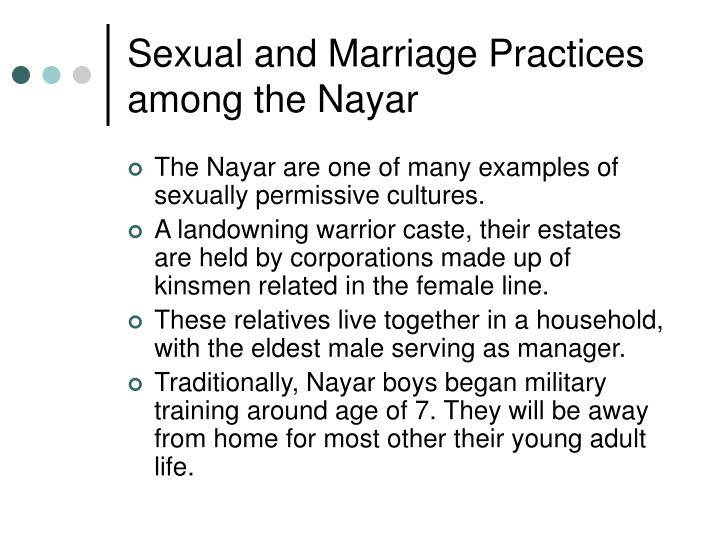 Sexual and Marriage Practices among the Nayar