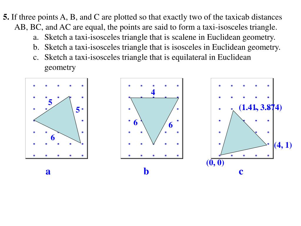 PPT - 1  Consider Taxicab and Euclidean distances  Which is