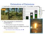 estimation of emissions