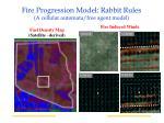 fire progression model rabbit rules a cellular automata free agent model