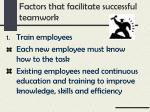 factors that facilitate successful teamwork