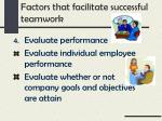 factors that facilitate successful teamwork3