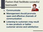 factors that facilitate successful teamwork4