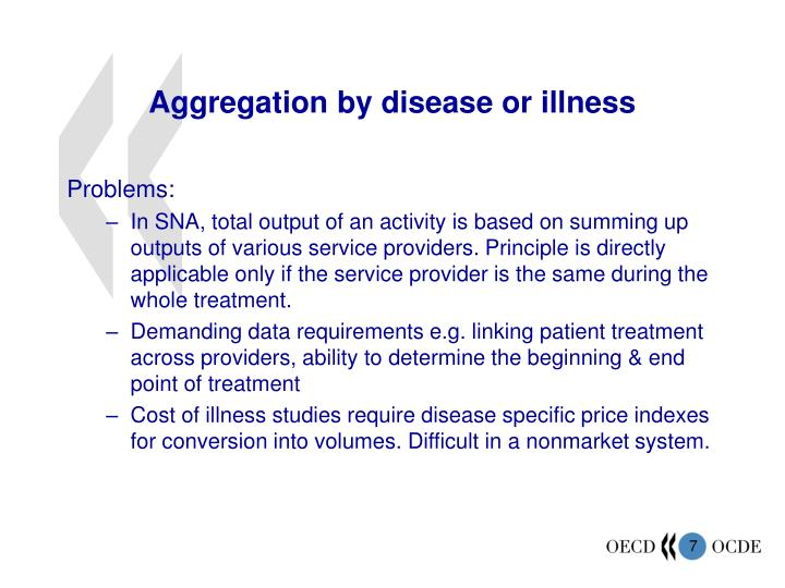 Aggregation by disease or illness