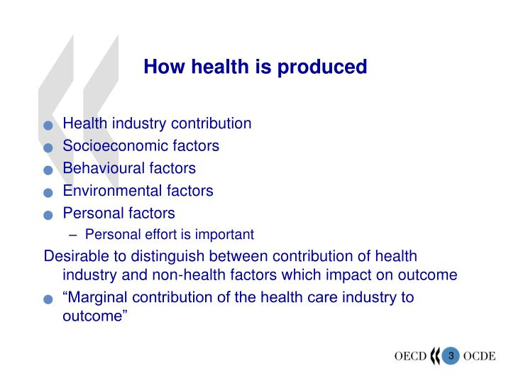 How health is produced