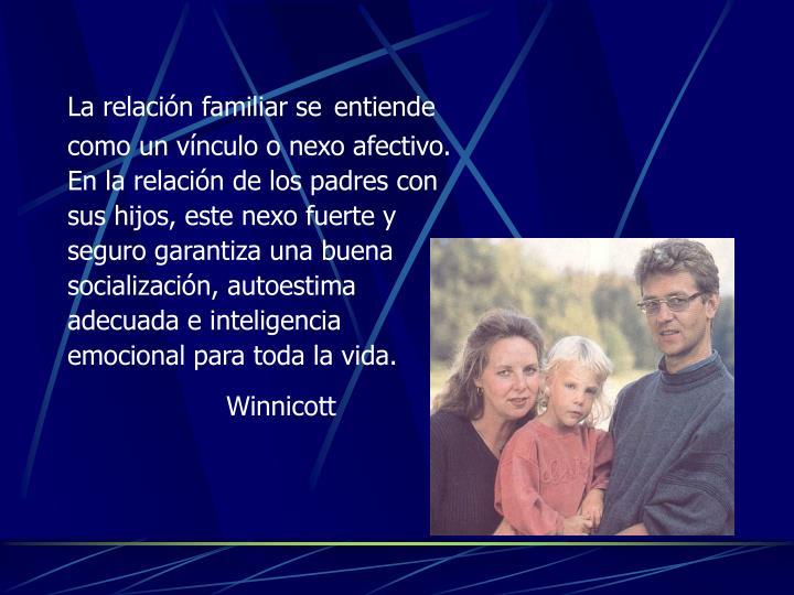 La relación familiar se