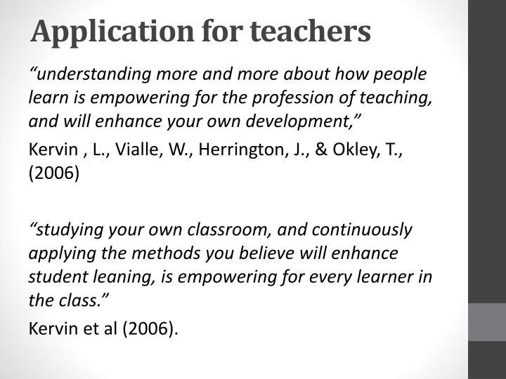 Application for teachers