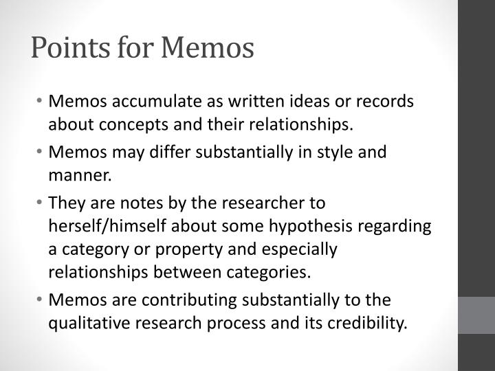 Points for Memos