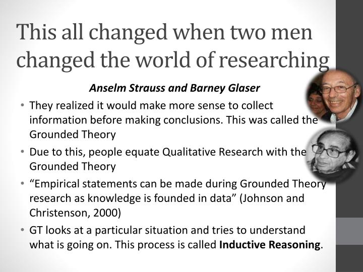 This all changed when two men changed the world of researching