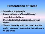 presentation of trend