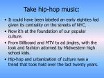 take hip hop music