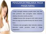 pengaruh malaria pada masa nifas