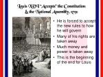 louis xvi accepts the constitution the national assembly 1791