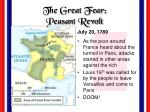 the great fear peasant revolt