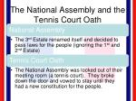 the national assembly and the tennis court oath