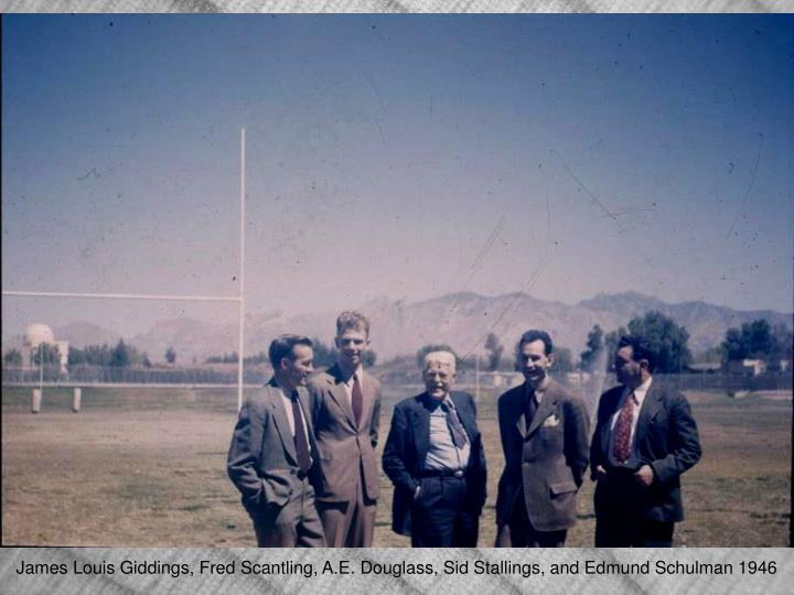 James Louis Giddings, Fred Scantling, A.E. Douglass, Sid Stallings, and Edmund Schulman 1946
