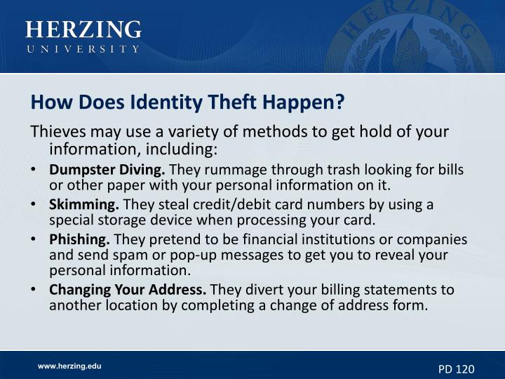 How Does Identity Theft Happen?