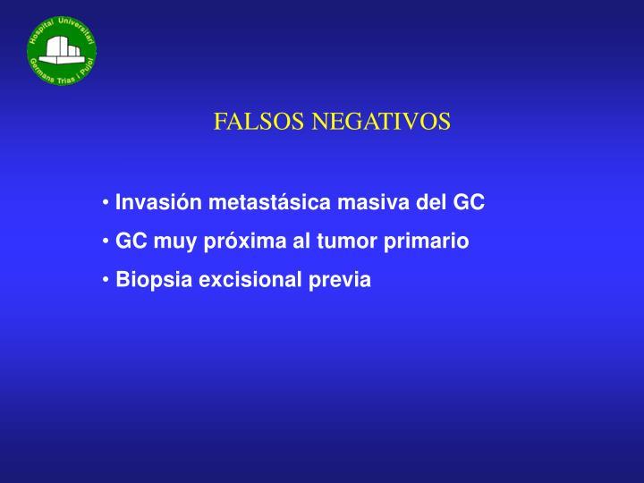 FALSOS NEGATIVOS