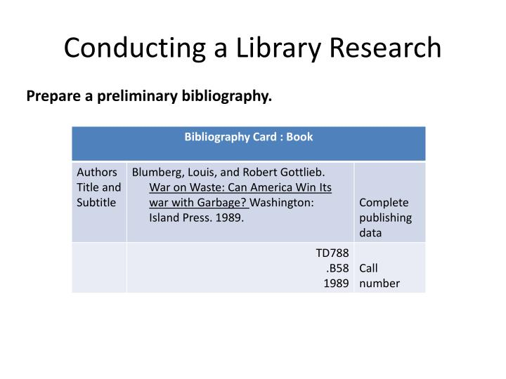 how to do a bibliography card for a book