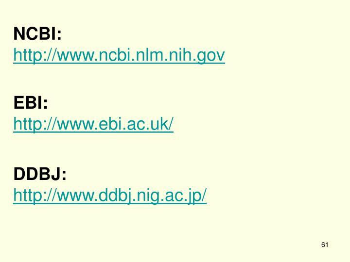 NCBI: