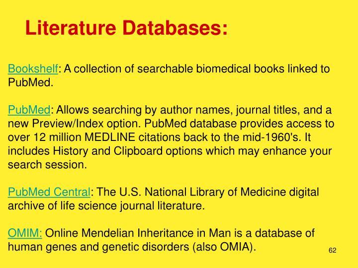 Literature Databases: