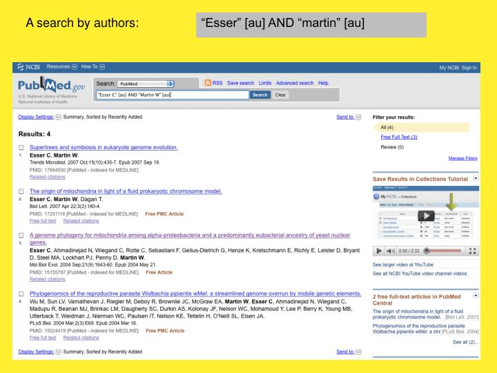 A search by authors: