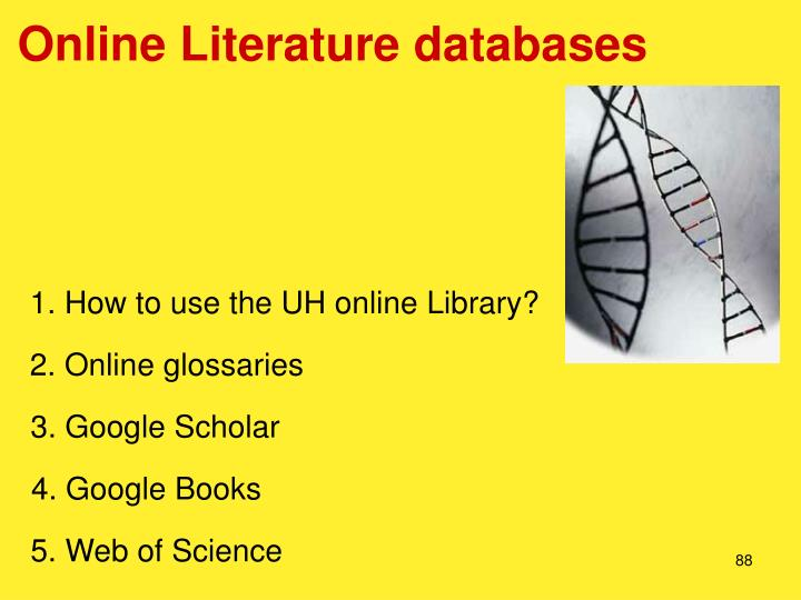 Online Literature databases