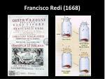 francisco redi 1668