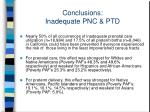 conclusions inadequate pnc ptd