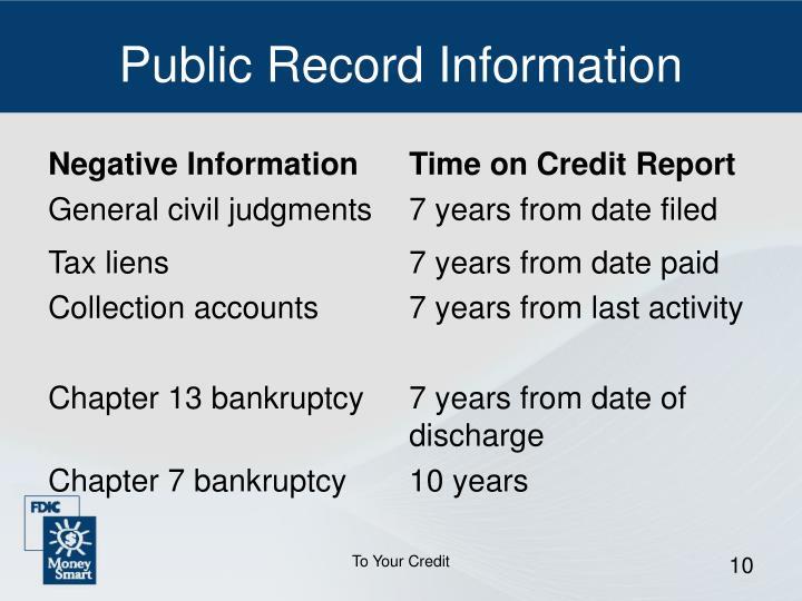 Public Record Information