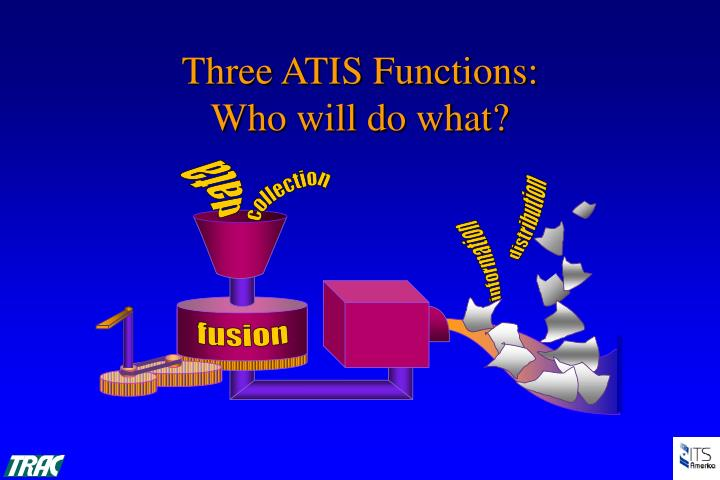 Three ATIS Functions: