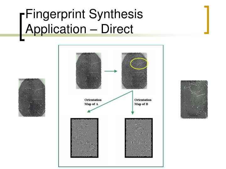 Fingerprint Synthesis Application – Direct