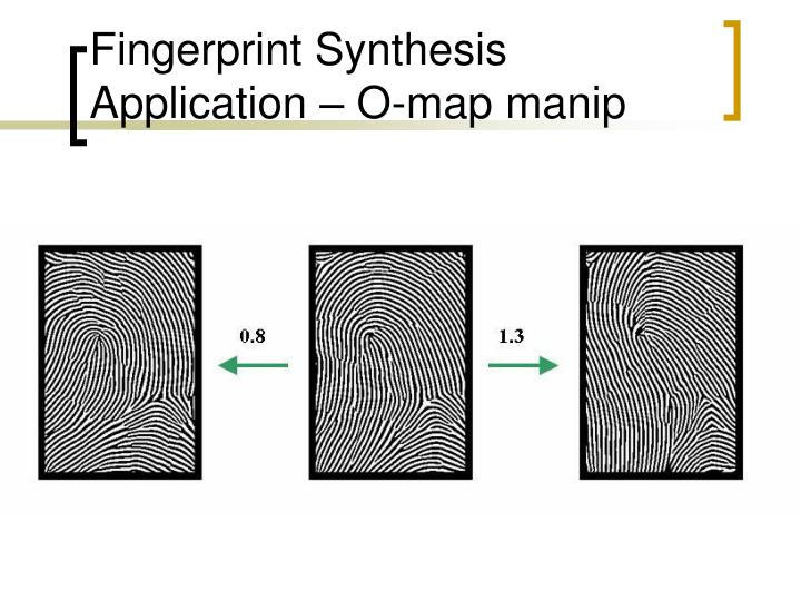 Fingerprint Synthesis Application – O-map manip