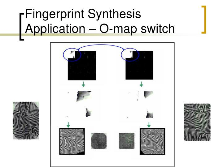 Fingerprint Synthesis Application – O-map switch