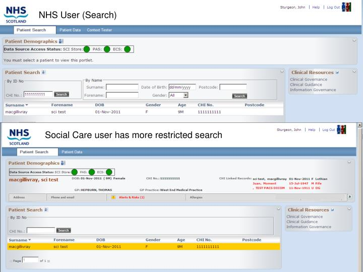 NHS User (Search)