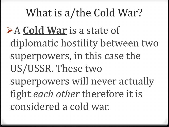 superpowers in the cold war essay The cold war in 1980s - the prone seigneur between the two superpowers since cold war began at the end of world war in the late 1940s, the two superpowers, the united states and the soviet union, were racing their power to get their dominance over another.