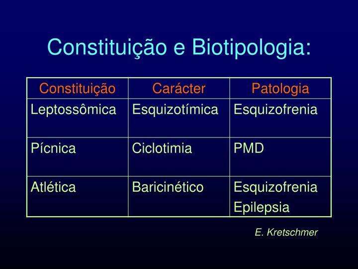 Constituição e Biotipologia: