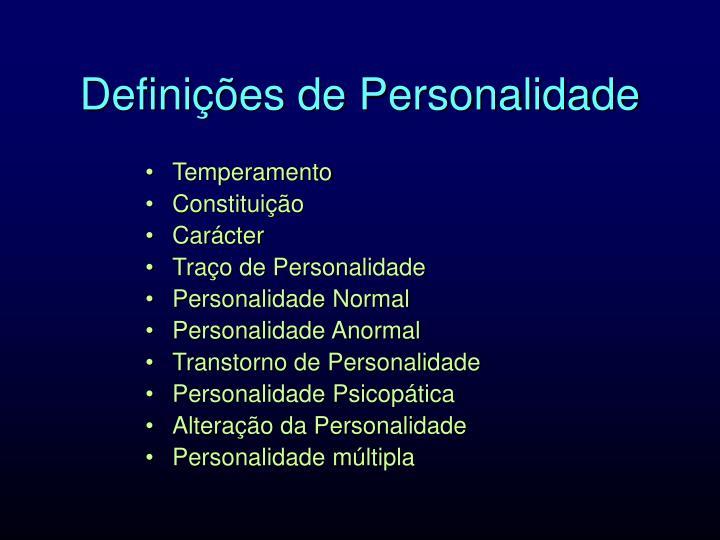 Definições de Personalidade
