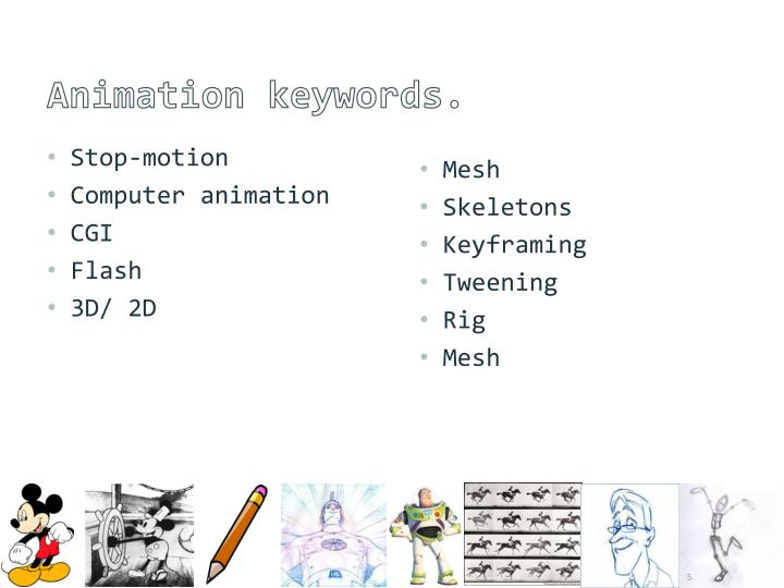 Animation keywords