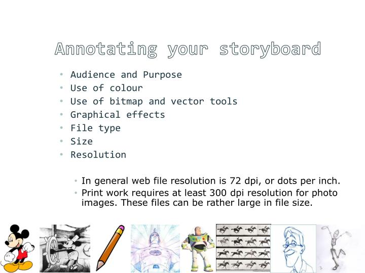 Annotating your storyboard