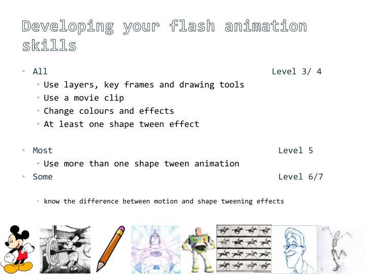 Developing your flash animation skills