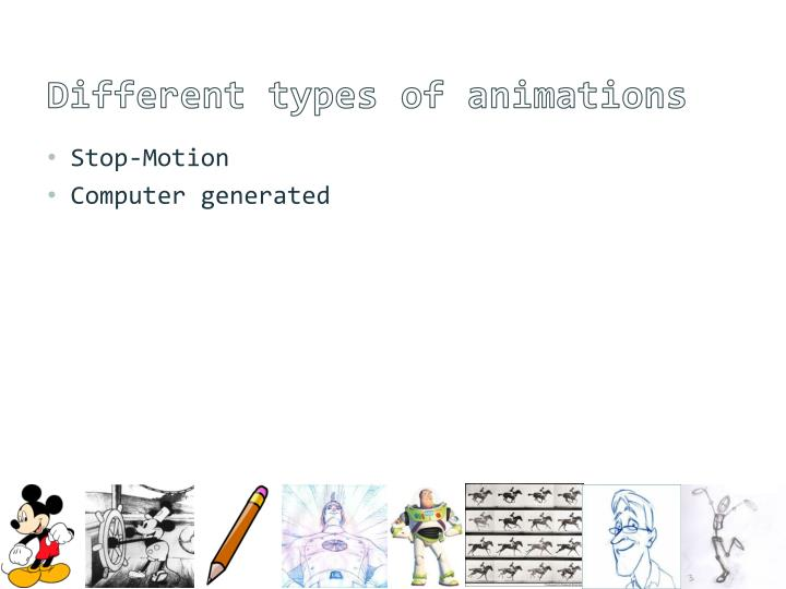 Different types of animations