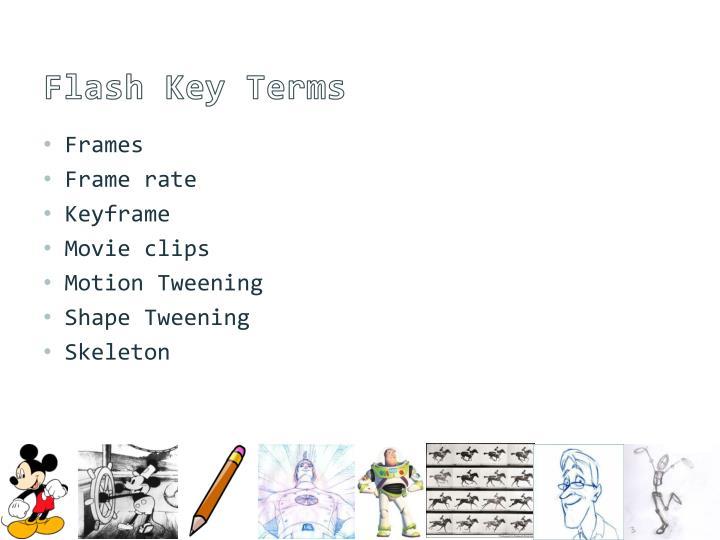 Flash Key Terms