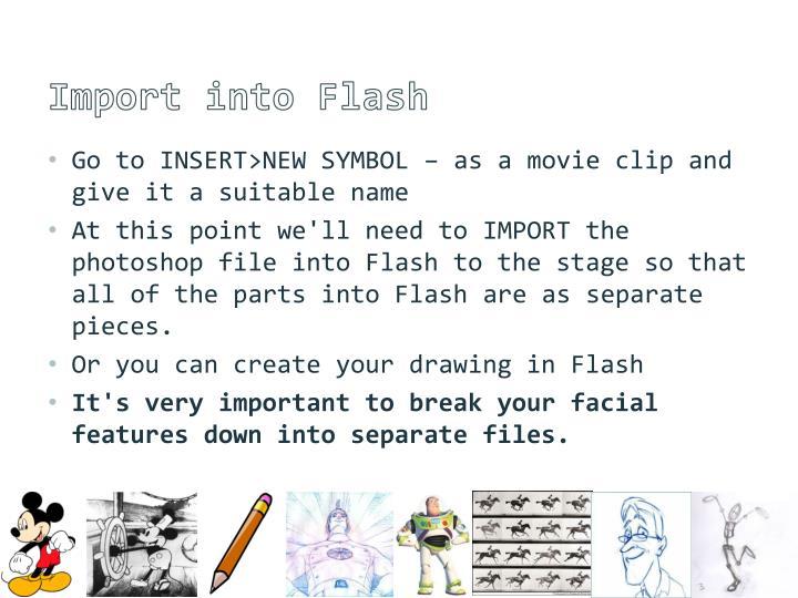 Import into Flash