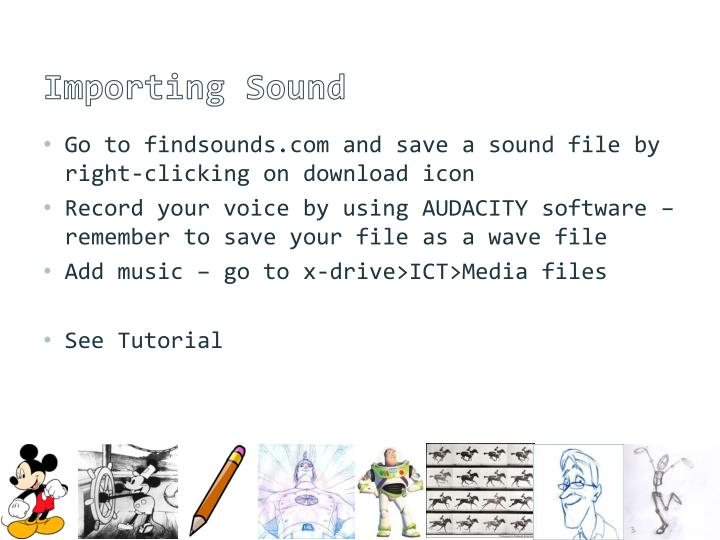 Importing Sound