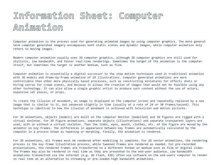 Information Sheet:
