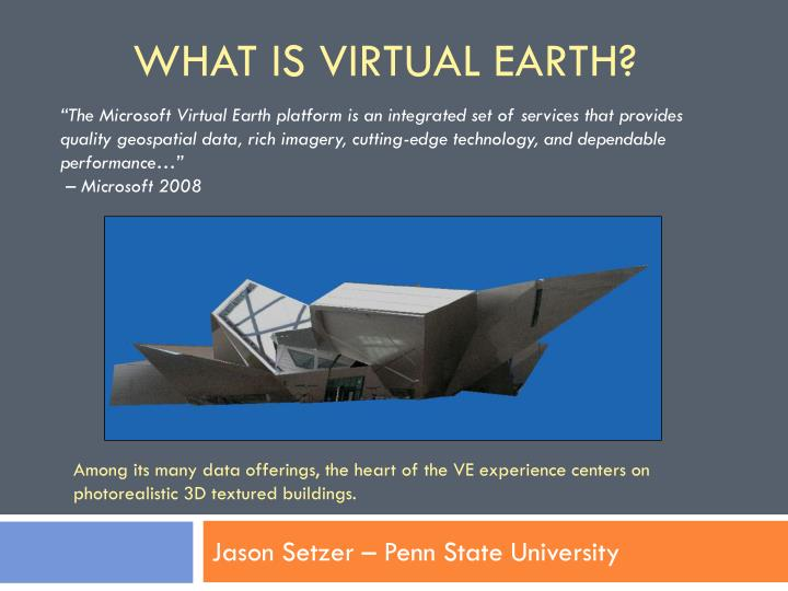 What is virtual earth