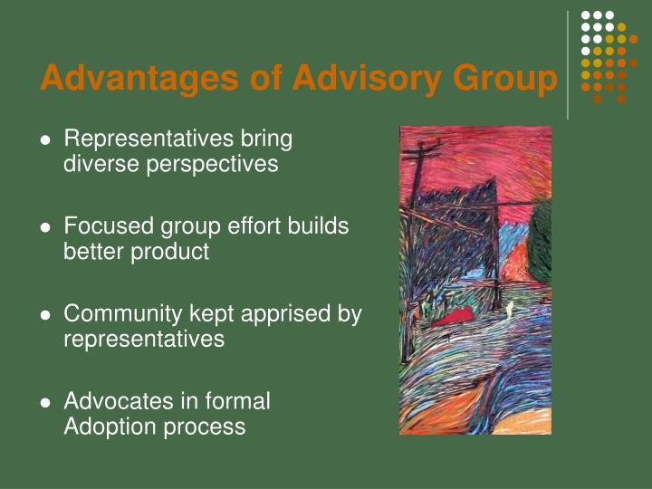 Advantages of Advisory Group